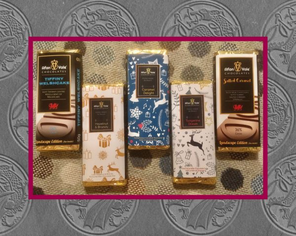 Authentically Welsh Afan Vale Chocolates 5 Bars